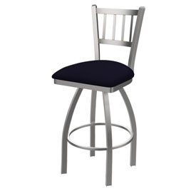 810 Contessa Swivel Stool with Stainless Finish and Canter Twilight Seat