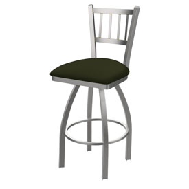 810 Contessa Swivel Stool with Stainless Finish and Canter Pine Seat