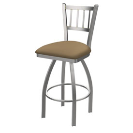 810 Contessa Swivel Stool with Stainless Finish and Canter Sand Seat