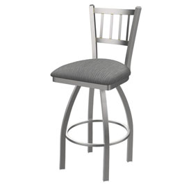 810 Contessa Swivel Stool with Stainless Finish and Graph Alpine Seat