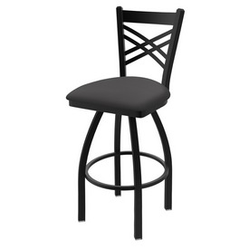"820 Catalina 36"" Swivel Bar Stool with Black Wrinkle Finish and Canter Storm Seat"
