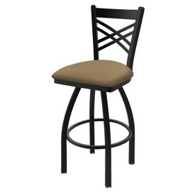 "820 Catalina 36"" Swivel Bar Stool with Black Wrinkle Finish and Canter Sand Seat"
