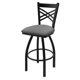 """820 Catalina 36"""" Swivel Bar Stool with Black Wrinkle Finish and Graph Alpine Seat"""