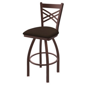 820 Catalina Swivel Stool with Bronze Finish and Rein Coffee Seat