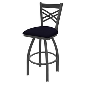 820 Catalina Swivel Stool with Pewter Finish and Canter Twilight Seat