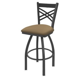 820 Catalina Swivel Stool with Pewter Finish and Canter Sand Seat