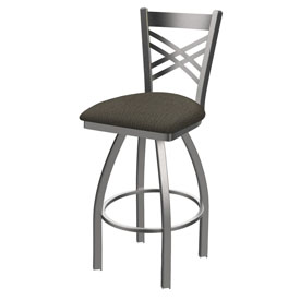 820 Catalina Swivel Stool with Stainless Finish and Graph Chalice Seat