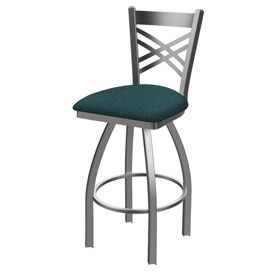 820 Catalina Swivel Stool with Stainless Finish and Graph Tidal Seat