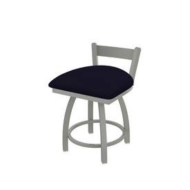 """821 Catalina 18"""" Low Back Swivel Vanity Stool with Anodized Nickel Finish and Canter Twilight Seat"""