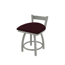 """821 Catalina 18"""" Low Back Swivel Vanity Stool with Anodized Nickel Finish and Canter Bordeaux Seat"""