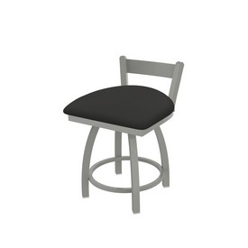 """821 Catalina 18"""" Low Back Swivel Vanity Stool with Anodized Nickel Finish and Canter Iron Seat"""