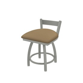 """821 Catalina 18"""" Low Back Swivel Vanity Stool with Anodized Nickel Finish and Canter Sand Seat"""
