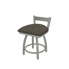 """821 Catalina 18"""" Low Back Swivel Vanity Stool with Anodized Nickel Finish and Graph Chalice Seat"""