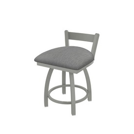 """821 Catalina 18"""" Low Back Swivel Vanity Stool with Anodized Nickel Finish and Graph Alpine Seat"""