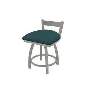 """821 Catalina 18"""" Low Back Swivel Vanity Stool with Anodized Nickel Finish and Graph Tidal Seat"""
