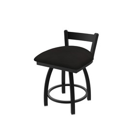 """821 Catalina 18"""" Low Back Swivel Vanity Stool with Black Wrinkle Finish and Canter Espresso Seat"""