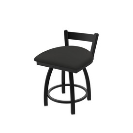 """821 Catalina 18"""" Low Back Swivel Vanity Stool with Black Wrinkle Finish and Canter Iron Seat"""