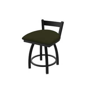 """821 Catalina 18"""" Low Back Swivel Vanity Stool with Black Wrinkle Finish and Canter Pine Seat"""