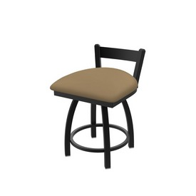 """821 Catalina 18"""" Low Back Swivel Vanity Stool with Black Wrinkle Finish and Canter Sand Seat"""