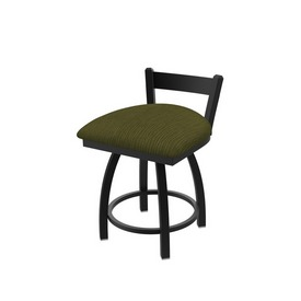"""821 Catalina 18"""" Low Back Swivel Vanity Stool with Black Wrinkle Finish and Graph Parrot Seat"""