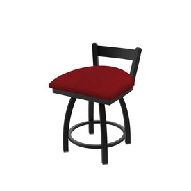 """821 Catalina 18"""" Low Back Swivel Vanity Stool with Black Wrinkle Finish and Graph Ruby Seat"""