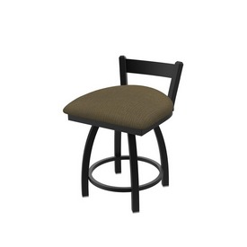 """821 Catalina 18"""" Low Back Swivel Vanity Stool with Black Wrinkle Finish and Graph Cork Seat"""