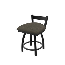 """821 Catalina 18"""" Low Back Swivel Vanity Stool with Black Wrinkle Finish and Graph Chalice Seat"""