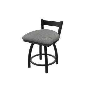 """821 Catalina 18"""" Low Back Swivel Vanity Stool with Black Wrinkle Finish and Graph Alpine Seat"""