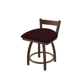 """821 Catalina 18"""" Low Back Swivel Vanity Stool with Bronze Finish and Canter Bordeaux Seat"""