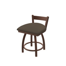 """821 Catalina 18"""" Low Back Swivel Vanity Stool with Bronze Finish and Canter Earth Seat"""