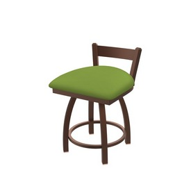 """821 Catalina 18"""" Low Back Swivel Vanity Stool with Bronze Finish and Canter Kiwi Green Seat"""