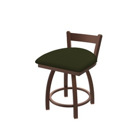 """821 Catalina 18"""" Low Back Swivel Vanity Stool with Bronze Finish and Canter Pine Seat"""