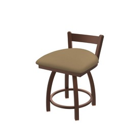 """821 Catalina 18"""" Low Back Swivel Vanity Stool with Bronze Finish and Canter Sand Seat"""