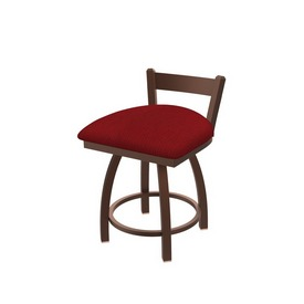 """821 Catalina 18"""" Low Back Swivel Vanity Stool with Bronze Finish and Graph Ruby Seat"""