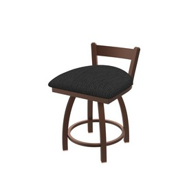 """821 Catalina 18"""" Low Back Swivel Vanity Stool with Bronze Finish and Graph Coal Seat"""