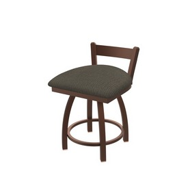 """821 Catalina 18"""" Low Back Swivel Vanity Stool with Bronze Finish and Graph Chalice Seat"""