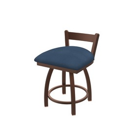 """821 Catalina 18"""" Low Back Swivel Vanity Stool with Bronze Finish and Rein Bay Seat"""