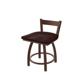 "821 Catalina 18"" Low Back Swivel Vanity Stool with Bronze Finish and Dark Cherry Maple Seat"