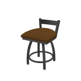 """821 Catalina 18"""" Low Back Swivel Vanity Stool with Pewter Finish and Canter Thatch Seat"""