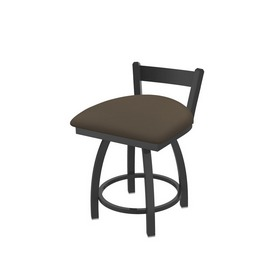 """821 Catalina 18"""" Low Back Swivel Vanity Stool with Pewter Finish and Canter Earth Seat"""