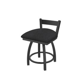 """821 Catalina 18"""" Low Back Swivel Vanity Stool with Pewter Finish and Graph Anchor Seat"""