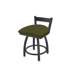 """821 Catalina 18"""" Low Back Swivel Vanity Stool with Pewter Finish and Graph Parrot Seat"""