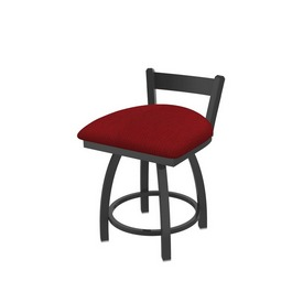 """821 Catalina 18"""" Low Back Swivel Vanity Stool with Pewter Finish and Graph Ruby Seat"""