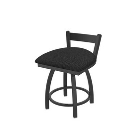 """821 Catalina 18"""" Low Back Swivel Vanity Stool with Pewter Finish and Graph Coal Seat"""