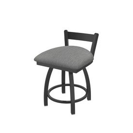 """821 Catalina 18"""" Low Back Swivel Vanity Stool with Pewter Finish and Graph Alpine Seat"""