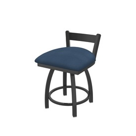 """821 Catalina 18"""" Low Back Swivel Vanity Stool with Pewter Finish and Rein Bay Seat"""