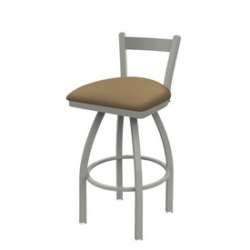 821 Catalina Low Back Swivel Stool with Anodized Nickel Finish and Canter Sand Seat