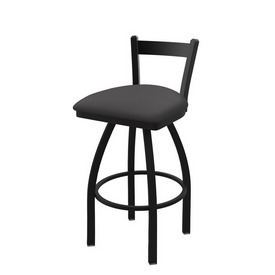 821 Catalina Low Back Swivel Stool with Black Wrinkle Finish and Canter Storm Seat