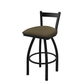 821 Catalina Low Back Swivel Stool with Black Wrinkle Finish and Graph Cork Seat