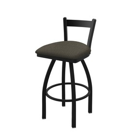821 Catalina Low Back Swivel Stool with Black Wrinkle Finish and Graph Chalice Seat
